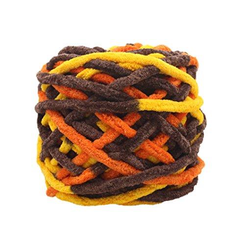 Xshaui 100 gramm schrumpfungsfest Kammgarn Super Weiche Glatte Naturseide Wolle Garn Stricken Pullover Stricken Chenille Garn (B) (Chenille-pullover Schwarze)