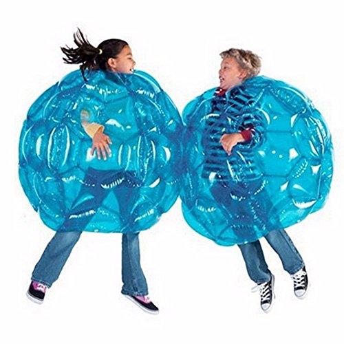 Z&HAO 2 Stücke Outdoor Aktivität Aufblasbare Bubble Buffer Bälle Kollisionskörper Stoßstange Ball Freundlich Für Kinder & Erwachsene Lustige Körper Punching Ball,Blue,90Cm