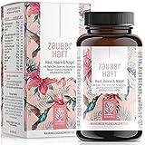Haar Vitamine - 375 mg Silizium hochdosiert mit Biotin Zink Selen - Kieselsäure aus Bambus, Kupfer, Iod, Sägepalme, Brennessel und B-Vitamine für Haare- 120 Haar Vitamin Kapseln