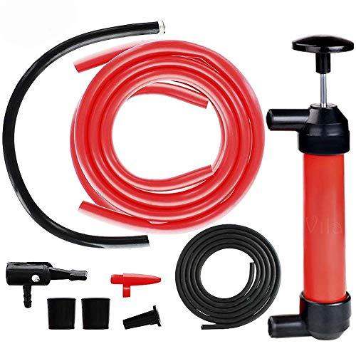 ZHANGZHIYUA Pompa a trasferimento di Liquido/sifone Manuale - Ventosa di plastica Manuale Pompa Multiuso Kit Pompa di trasferimento del Carburante sifone (per gasolio e liquidi),1