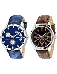 On Time Octus Combo Of 2 Analog Watch For Boys And Mens- OT-206-212