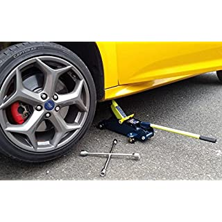 XtremeAuto® 2 Tonne Hydraulic Trolley Jack + Wheel Wrench - Includes XtremeAuto Sticker