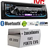 FIAT Punto Evo / 199 - Autoradio Radio JVC KD-R992BT - Bluetooth   MP3   USB   Android   Multicolor - Einbauzubehör - Einbauset