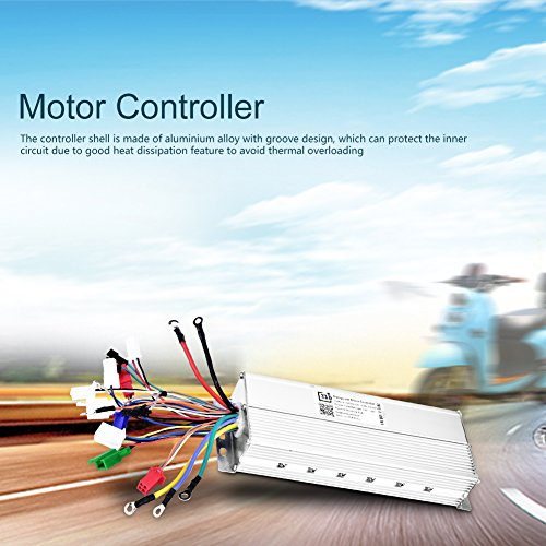 Tbest - Controlador de Velocidad de Motor sin escobillas para Scooter eléctrico de Bicicleta (36 V/48 V, 1200 W)