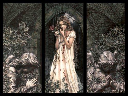 Victoria Frances - Tela con trittico 60 x 80 cm