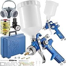 TecTake 400309 - 2x Pistolas de pintar pulverizadora de pintura HVLP 1,3 + 0