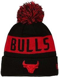New Era Men's Chicago Bulls Bobble Knit Beanie, Black, One Size