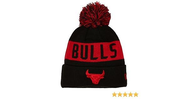 65d210847fa New Era Men s Chicago Bulls Bobble Knit Beanie