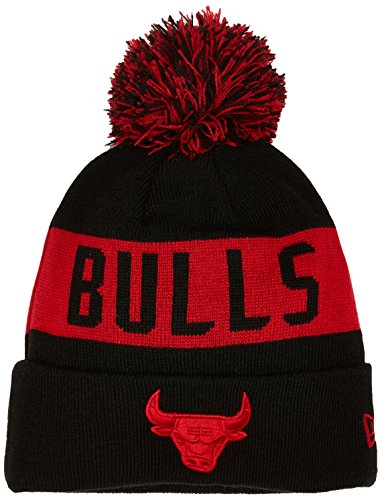 New Era Herren Chicago Bulls Bobble Knit Beanie, Schwarz, One size