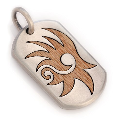 bico-bennu-pendant-ew10-to-rise-to-ascend-silver-finish-with-new-guinea-rosewood-insert-tribal-urban