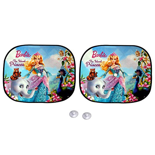 Premium Blue Barbie Doll Sun Shades / Car Curtain ( Set Of 2 ) For Hyundai I20 Elite  available at amazon for Rs.100