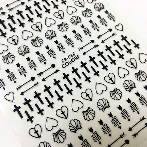 ZJWLL Latest 3D Nail Art Sticker Nail L-192 Angel Series Nail Art Sticker Strumento Decalcomania Strumento Fai-da-Te CB-086B