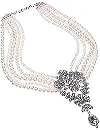 5011faa69b85 Fashion blanco perlas de imitación de cristal lámpara de techo para pulsera  cadena cuello perfecto para vestir…
