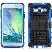 Galaxy A5 Hülle, JAMMYLIZARD [ ALLIGATOR ] Doppelschutz Outdoor-Hülle für Samsung Galaxy A5, BLAU