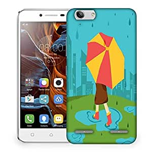 Snoogg abstract rainy season background with waterdrops and clouds Designer Protective Back Case Cover For Lenovo K5 Vibe
