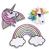 Unicornio Arco iris Parches Ropa Termoadhesivos para bebe niños