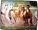 HKM Tagesdecke aus Fleece -Herde- ca. 135 x 160 cm