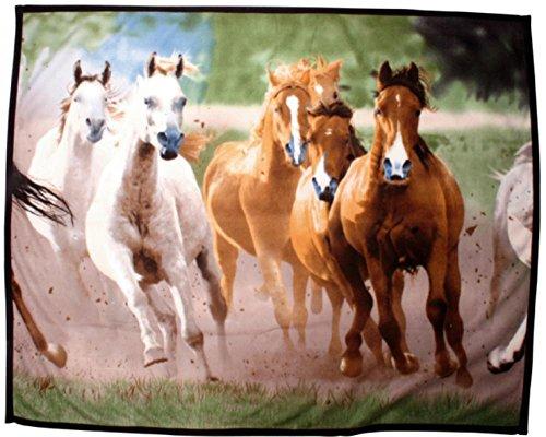 Preisvergleich Produktbild HKM Tagesdecke aus Fleece -Herde- ca. 135 x 160 cm