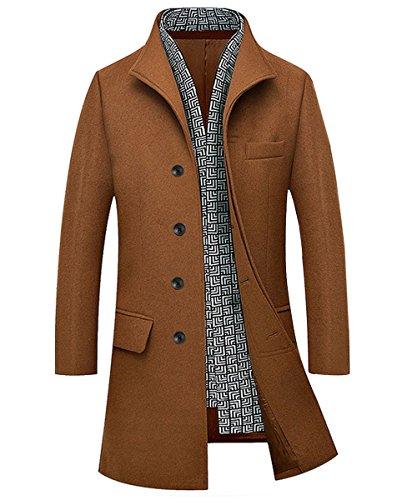 sale retailer ba74b 60e75 Herren Stilvoller Klassischer Einreihig Geknöpft lang Wollmantel Trenchcoat  Mantel Business