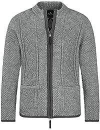 bdb277ee86c80 Almbock Strickjacke Reißverschluss Herren | Hochwertige Trachten Strickjacke  | Trachtenjacke Männer aus feiner Wolle in vielen