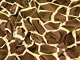Animal Print Polyester Velboa Stoff, Meterware, Big Giraffe + Frei Minerva Crafts Craft Guide