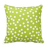 vintage cap Lime Green and White Polka Dot Pillow Pillowcase for Sofa 18