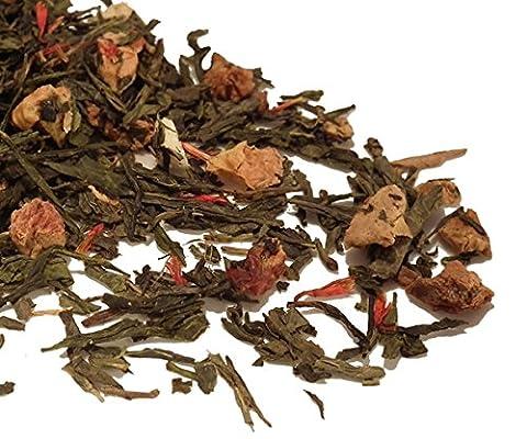 Golden Apple Spice Green Tea 100g Loose Leaf Tea Jananese Sencha Style by TeaCakes of Yorkshire.