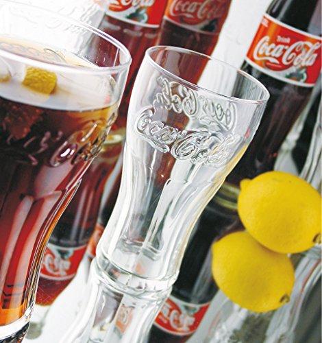 Arcoroc Coca-Cola FH46 Konturglas, mit Füllstrich bei 400ml, 6 Stück