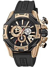 2f2fca73e4d0 Roberto Cavalli por Franck Muller Viper Swiss Made RV1G057P0056 Reloj de  Goma para Hombre