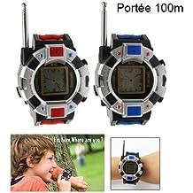 Paire montre talkie walkie réglable jeu enfant push to talk 100 mètres