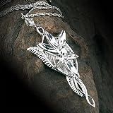 el Se?or de la Collar Colgante Anillos Elf Reina Arwen Estrella de la Tarde, Collar de la Mujer