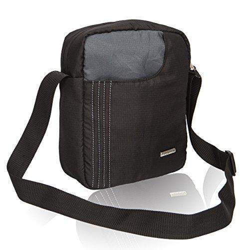 Cosmus Stitchwell 6 Litres Black & Dark Grey Sling Bag