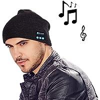 amovee Fashion Bluetooth Knit Cappello Con Cuffie stereo e microfono