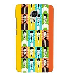 PrintVisa Corporate Print & Pattern Faces Man 3D Hard Polycarbonate Designer Back Case Cover for Meizu MX5