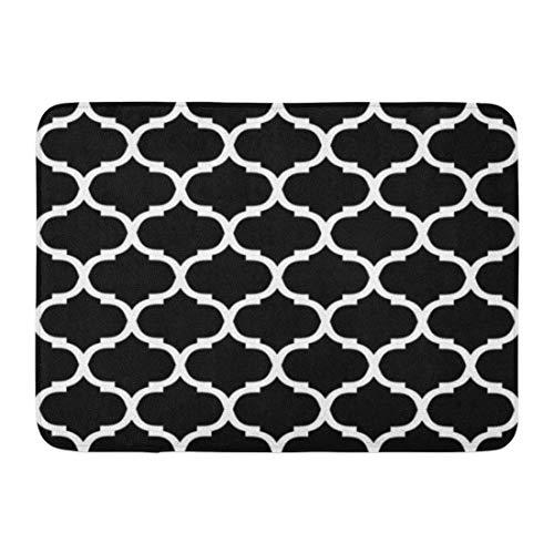Rongpona Fußmatten Bad Teppiche Outdoor/Indoor Fußmatte Floral Ornamental Pattern marokkanischen abstrakte geometrische Scroll Barock Badezimmer Dekor Teppich Badematte (Badematte Marokkanischen)