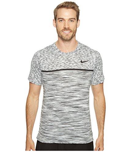 Nike M NKCT Dry CHLLGR Top SS T-shirt für Tennis für Herren, Weiß (White / Black / Pure Platinum / Black), M