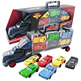 METRO TOY'S & GIFT 6 in 1 Vehicle Playsets McQueen Pixar Cars 3 Jackson Storm Daniel Swervez Mack Uncle Truck Hauler and…
