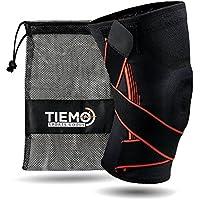 TIEMO Premium Sport Kniebandage mit einzigartiger Triple-Stability Formel - Elastische Knieorthese für Männer & Damen - Kniestütze in Übergrößen bis XXL