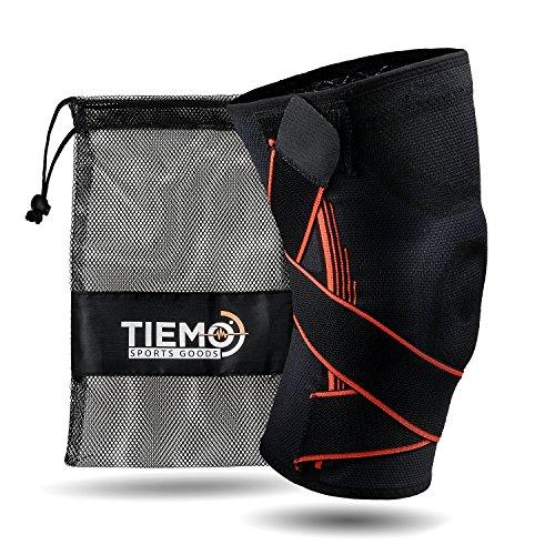 TIEMO Premium Kniebandage mit der einzigartigen Triple-Stability Formel - Elastische Knie-Orthese für maximale Stabilität beim Sport und im Alltag