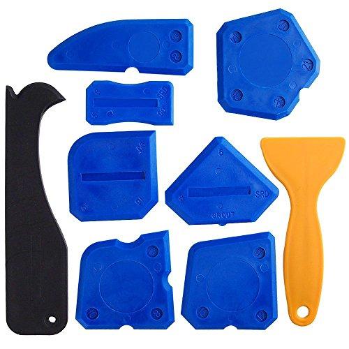 9Stücke Versiegelungsmittel Tools Abdichten Set Silikon Entferner für alle Badezimmer Küche Raum und Rahmen Versiegelungsmittel Dichtungen