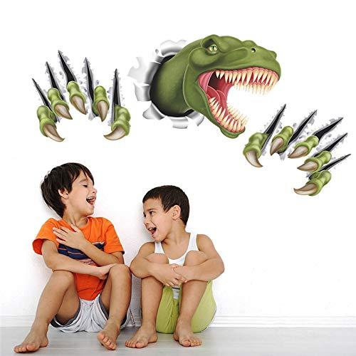 WLGOOD Cartoon Dinosaurier Pfote Kratzer durch Wandaufkleber 3D-Effekt Dekoration Kinder Kinderzimmer Wandtattoo Film Wandbild Kunst,Geschenk,Festival