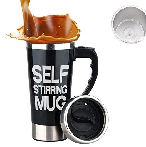 Tazza automescolante / self stirring mug / travel mug - mengshen coffee cup termica miscelatore caffettiera elettrica auto shaker proteine tea perfect for office home outdoor gift 450ml, a008a black