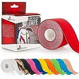 Yousave Accessories® Proworks Kinesiologie Tape [5cm x 5m Rollenlänge] Tape für Muskeln und Gelenke [Wasserfest] für Training, Physiotherapie und Schmerztherapie in verschiedenen Farben - Rot