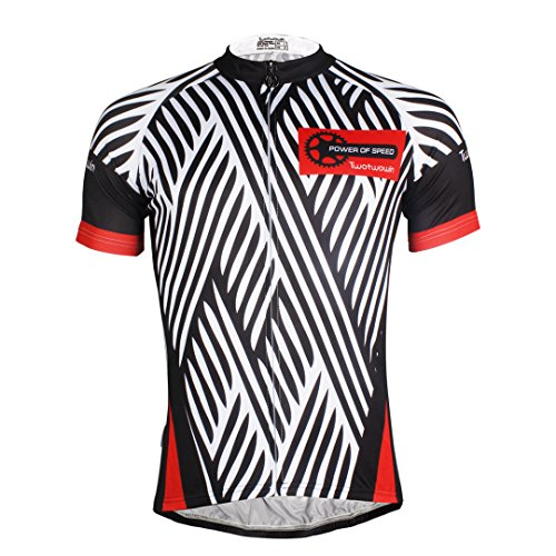 Zebra Crossing Pattern Men s Short Sleeve Cycling Jersey Full Zip Moisture  Wicking Breathable Running Top Quick 2dcd31907