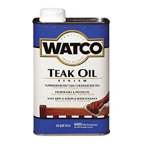 Rust-Oleum Watco 67141 Teak Oil Finish & One-Step Protection For Exterior Wood Applications, 1 Quart