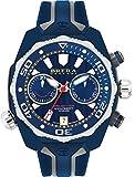Brera Orologi Prodiver de Hombres, S/S, Bisel Azul, Esfera Azul, Correa de Color Gris y Azul 47MM
