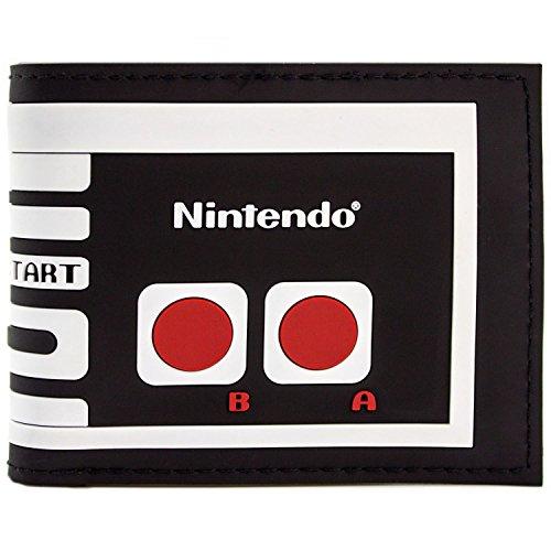 Nintendo Controller Kostüm (Nintendo NES Retro Controller Schwarz Portemonnaie)