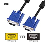 VGA Kabel, 1.8m 15-polig Stecker auf Stecker Computer Monitor Draht(Schwarz) von SZCTKlink