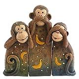 NEW See No, Speak No, Hear No Evil Monkeys Statue Ornament Monkey