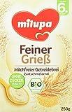 Milupa Bio-Grieß Getreidebrei ab dem 6. Monat, 5er Pack (5 x 250 g Packung) - Bio